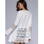 Simple Design Long Sleeve White Cardigan - WHITE
