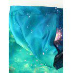 Hooded Front Pocket Galaxy Hoodie - MULTI