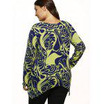 Paisley Knitted Asymmetrical Pullover for sale