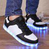 Led Luminous Lights Up Color Splicing Shoes Casual - BRANCO E PRETO