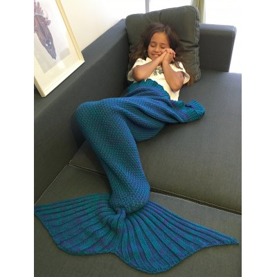 Comfortable Flounced Design Knitted Mermaid Tail Blanket скраб therme охлаждающий финская cауна для тела 500 мл упак