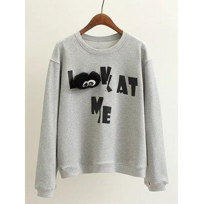 Plus Size Letter Pattern Sweatshirt