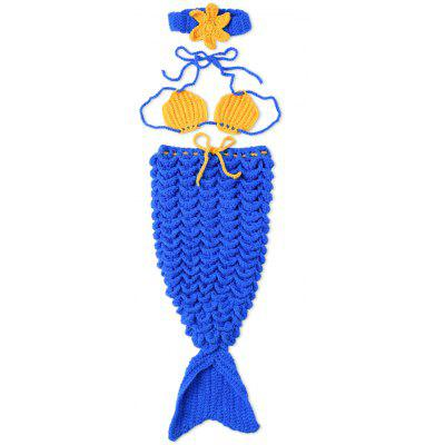 Knitted Crochet Mermaid Tail Costume