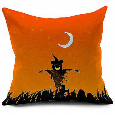 Halloween Pumpkin Vampire Printed Decorative Pillow Case