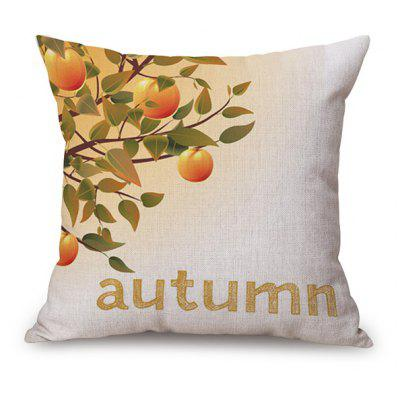 Sofa Decorative Autumn Fruit Tree Design Linen Pillow Case