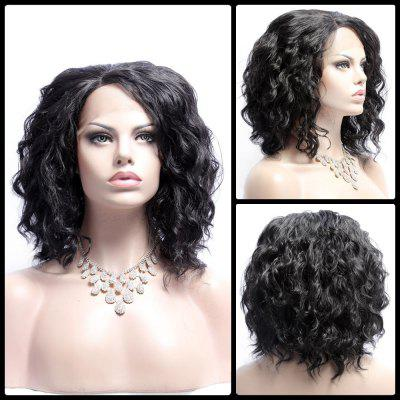 Medium Fluffy Wavy Side Bang Lace Front Synthetic Wig