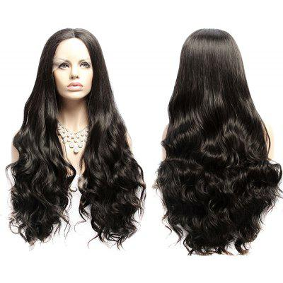 Long Fluffy Wavy Middle Part Lace Front Synthetic Wig