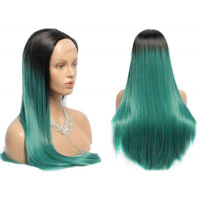 Side Parting Long Straight Synthetic Double Color Lace Front Wig