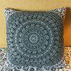 Indian Elephant Totem Double-Faced Pillowcase - BLACK