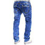 Buy Special Zipper Design Straight Leg Loose Jeans 34 LIGHT BLUE