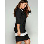 Plus Size Two-Toned Hemming Sleeves Dress deal