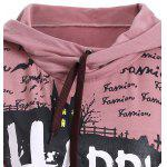 Long Sleeve Letter Print Long Neck Hoodie deal