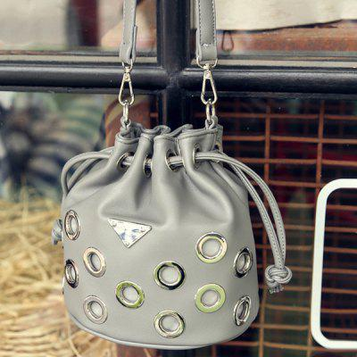 Metal Drawstring Crossbody Bag
