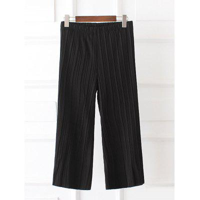 Plus Size Pleated Palazzo Capri Pants