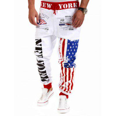 Drop Crotch American Flag Joggers