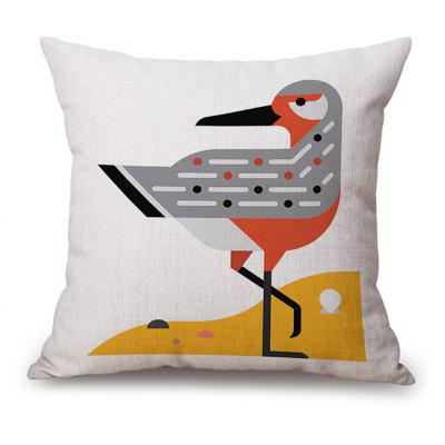 Cartoon Animal Bird Printed Car Sofa Cushion Pillow Case