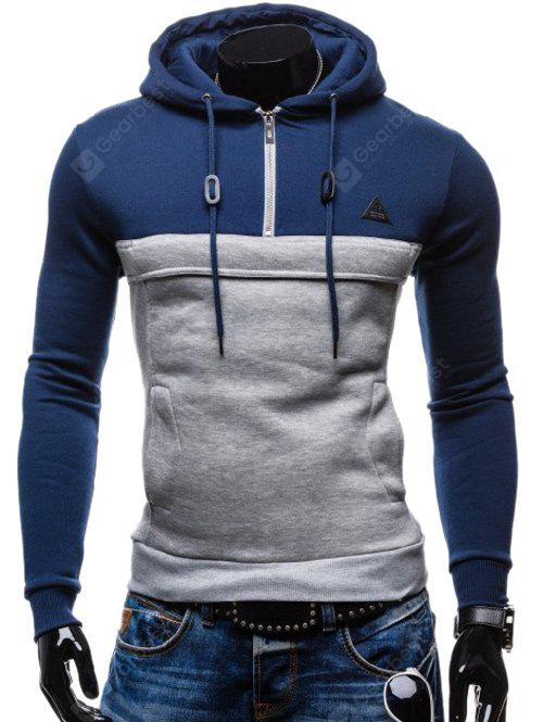 Zip Up Spliced Hoodie