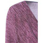 Side Button Cowl Neck Knitted Long Sleeve Sweater deal