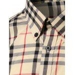 Checked Long Sleeve Button-Down Shirt - YELLOW
