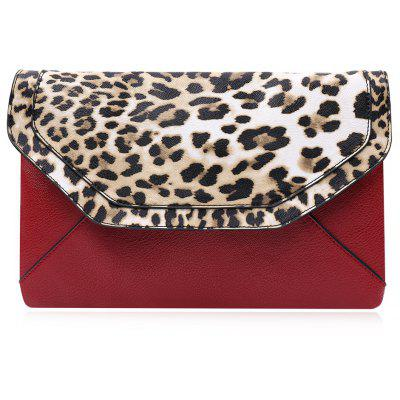 Trendy Leopard Print and Envelope Design Women's Crossbody Bag