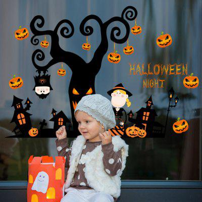 Home Decor Pumpkin Halloween Night Room Wall Murals