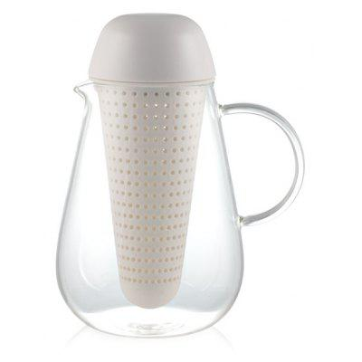 Household Glass Heatproof Lucency Teakettle With Strainer