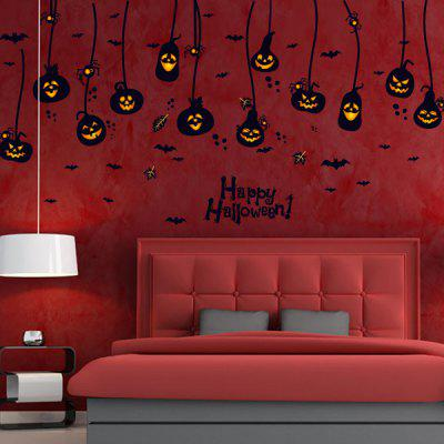 Home Decor Pumpkin Lantern Halloween Wall Murals