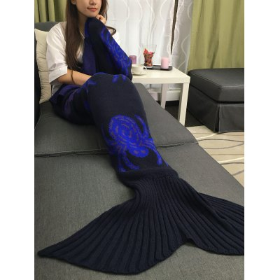 Buy BLACK Halloween Spider Multicolor Crochet Knitting Mermaid Tail Style Blanket for $24.40 in GearBest store