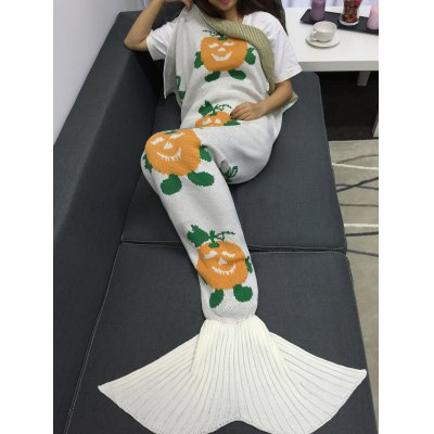 Halloween Pumpkin Multicolor Crochet Knitting Mermaid Tail Style BlanketBedding<br>Halloween Pumpkin Multicolor Crochet Knitting Mermaid Tail Style Blanket<br><br>Material: Acrylic<br>Package Contents: 1 x Blanket<br>Pattern Type: Solid<br>Size(L*W)(CM): 175*90<br>Type: Knitted<br>Weight: 0.945kg