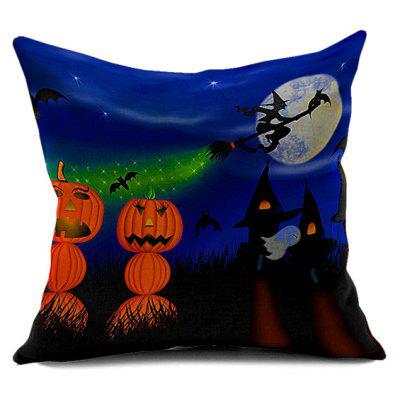 Halloween Pumpkin Vampire Printed Sofa Cushion Pillow Case