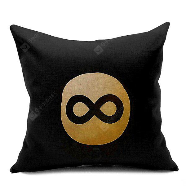 Number 8 Printed Sofa Cushion Pillow Case