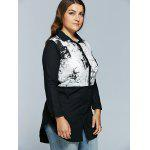 Plus Size Chinese Painting Print Shirt deal