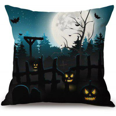 Buy COLORMIX Halloween Pumpkin Ghost Printed Pillow Case for $6.34 in GearBest store