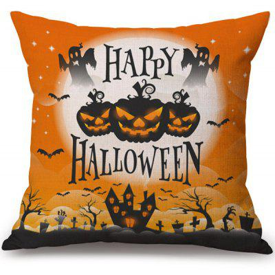 Buy COLORMIX Happy Halloween Pumpkin Printed Decorative Soft Pillow Case for $3.97 in GearBest store