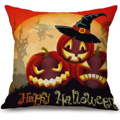 Buy COLORMIX Happy Halloween Pumpkins Printed Decorative Soft Pillow Case for $4.25 in GearBest store