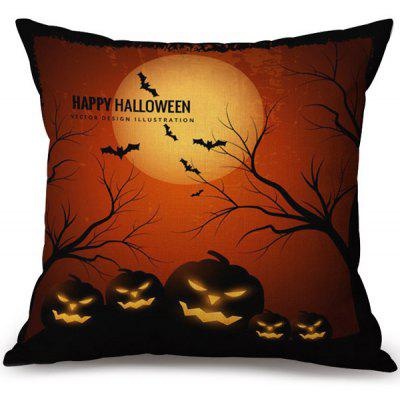 Buy COLORMIX Happy Halloween Pumpkins Printed Pillow Case for $6.34 in GearBest store