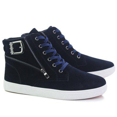 High Top Zipper Casual Shoes