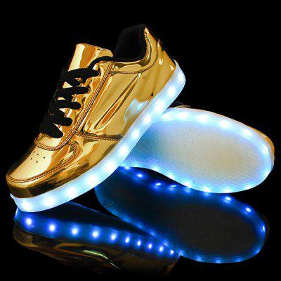 Metallic Finish Led Luminous Lights Up Casual Shoes
