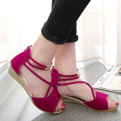 Cross Straps Design Sandals For Women