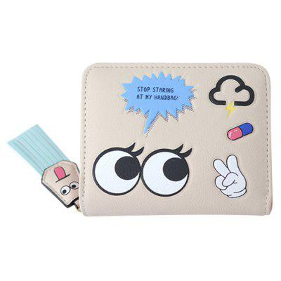 Big Eyes Cartoon PU Leather Small Wallet