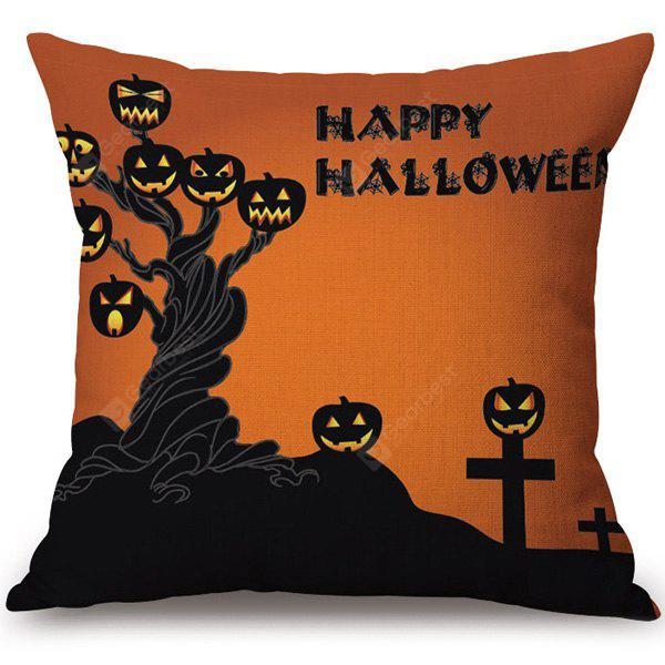 COLORMIX Hot Sale Happy Halloween Pumpkins Ghost Printed Pillow Case