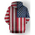 cheap Star Stripe Pattern Long Sleeve Pullover Hoodie