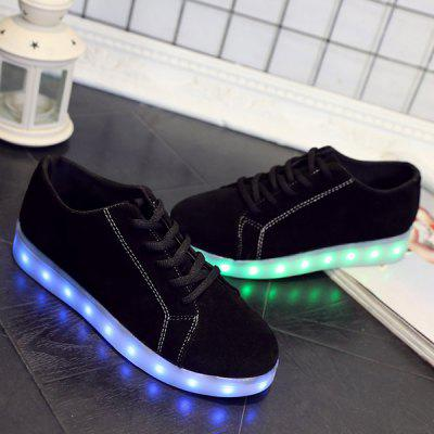 Suede Led Luminous Lights Up Athletic Shoes