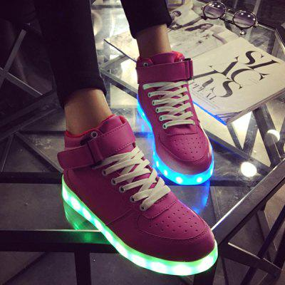 Tie Up Led Luminous Lights Up Athletic Shoes