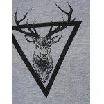 best Round Neck Deer Print Sweatshirt