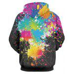 cheap Paint Splatter Print Long Sleeve Pullover Hoodie