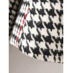 Lapel Big Pocket Houndstooth Coat for sale