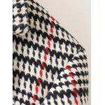 Lapel Big Pocket Houndstooth Coat deal