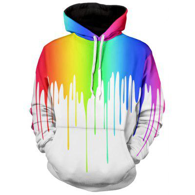 Multicolor Paint Dripping Long Sleeve Hoodie