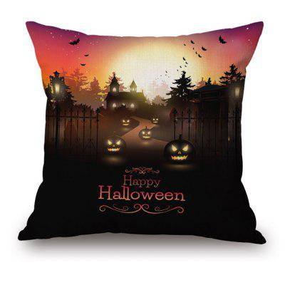 Buy COLORMIX Pumpkin Lantern Printed Halloween Pillow Case for $8.59 in GearBest store